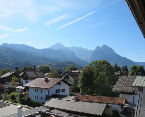 Hotel Garni Almenrausch & Edelweiß in Garmisch-Partenkirchen, Almenrausch und Edelweiss, Ausblick